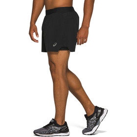 "asics Road 2-i-1 5"" shorts Herrer, performance black"